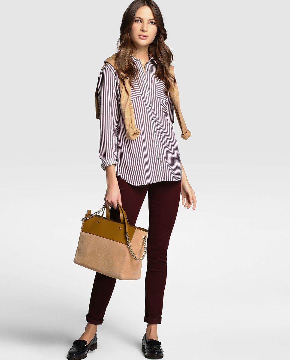 fca1bef7636 Camisa de mujer Tommy Hilfiger de manga larga y estampado de rayas. 39.95 €