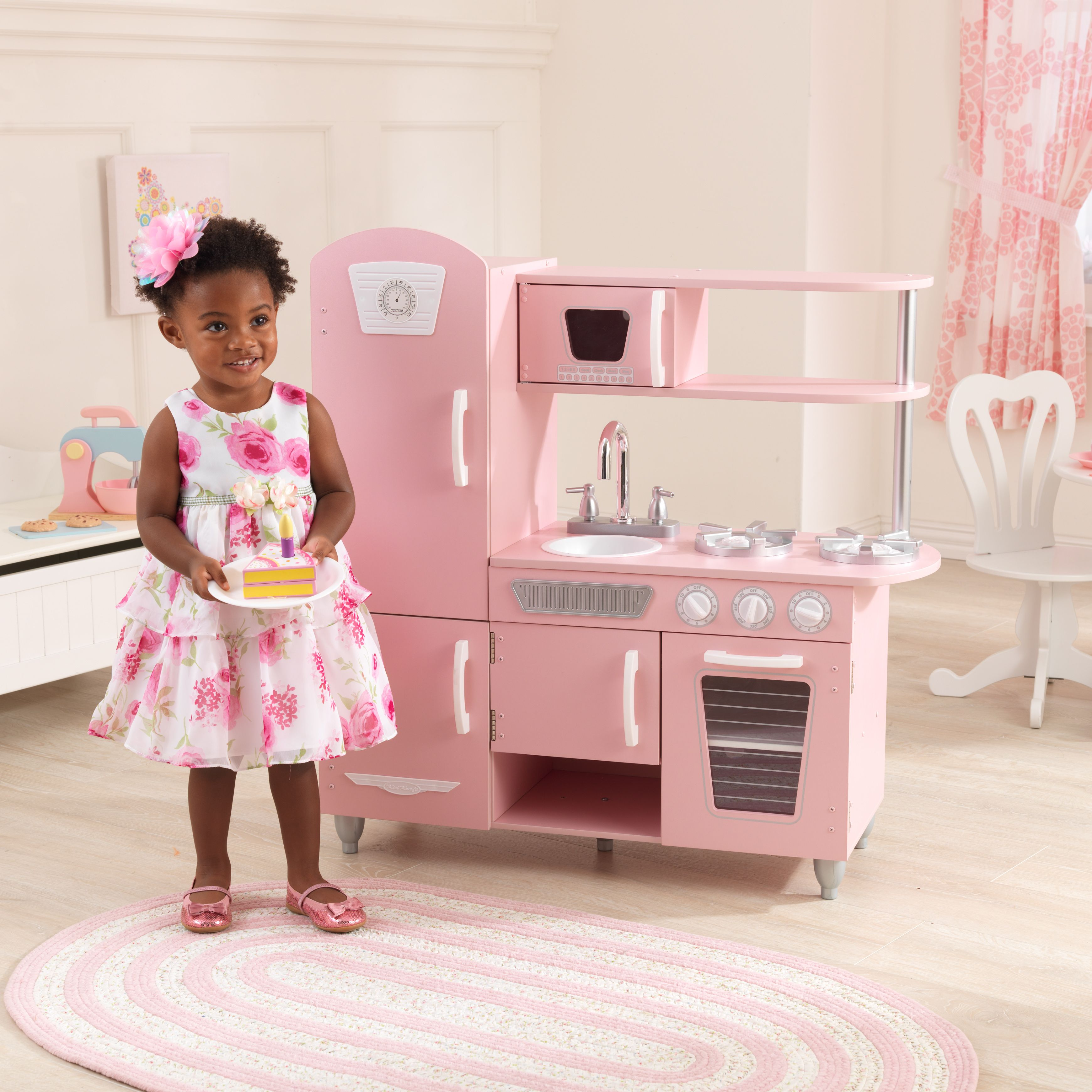 Toys  Kids pretend play kitchen, Kidkraft vintage kitchen, Play