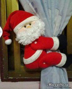 Santa Claus - un clip para las cortinas.  patrón