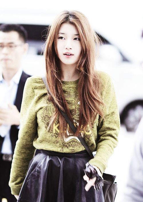 suzy hair style suzy miss a pretty hair color in a simple style kpop 5027