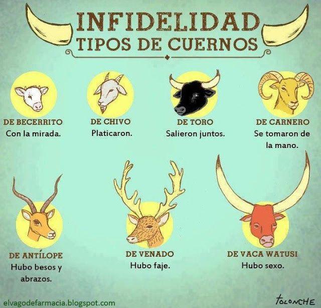 IMAGENES CON FRASES GRACIOSAS: TIPOS DE CUERNOS | Frases & Humor ...