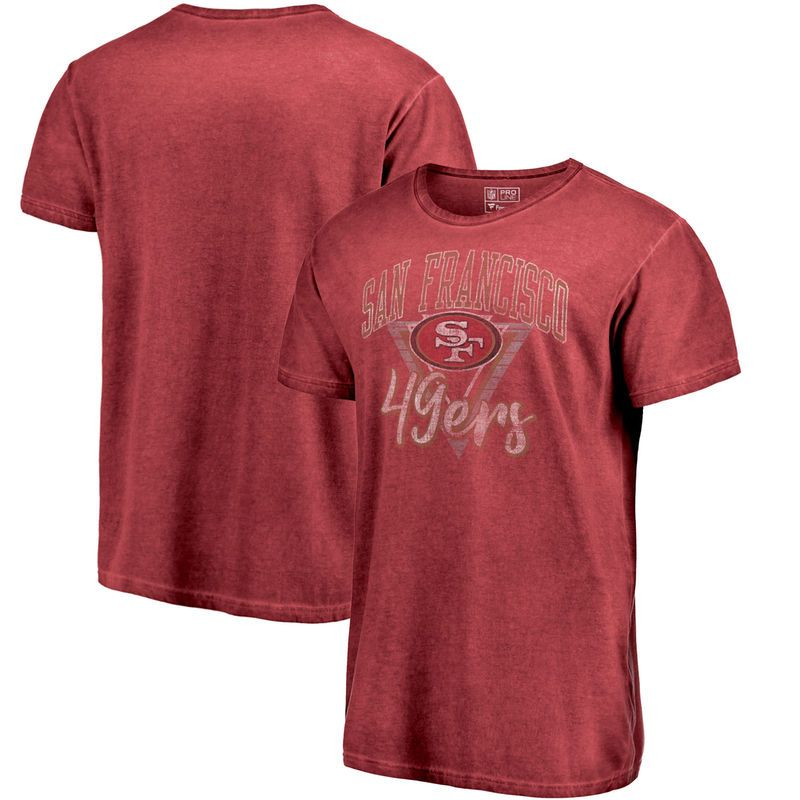San Francisco 49ers NFL Pro Line by Fanatics Branded Shadow Washed Retro  Arch T-Shirt – Scarlet 44a80e1ae