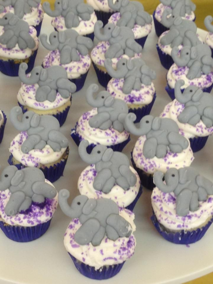 Elephant Baby Shower Cupcakes Baby Shower Ideas Baby Shower