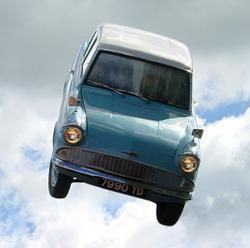 Flying Ford Anglia Harry Potter Flying Car Ford Anglia Ron And Harry