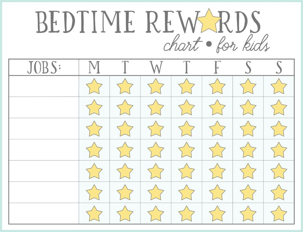 Bedtime Routine Charts