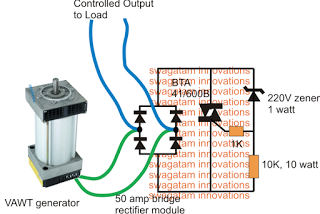 Simple Vertical Axis Wind Turbine Generator Circuit | Electronic ...