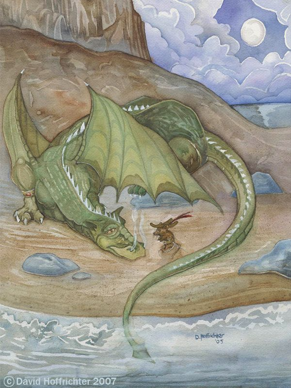 Reepicheep Consoling Eustace S Dragon Self By Holly Coffee On