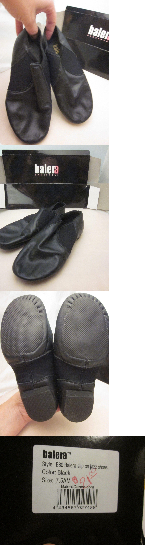 53a5d100f0a7 Jazz Hip Hop 150664  Balera Slip On Leather Jazz Shoes Black Child ...