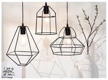 moderne lampen zoals deze metalen plafondhangers kunnen in één, Deco ideeën