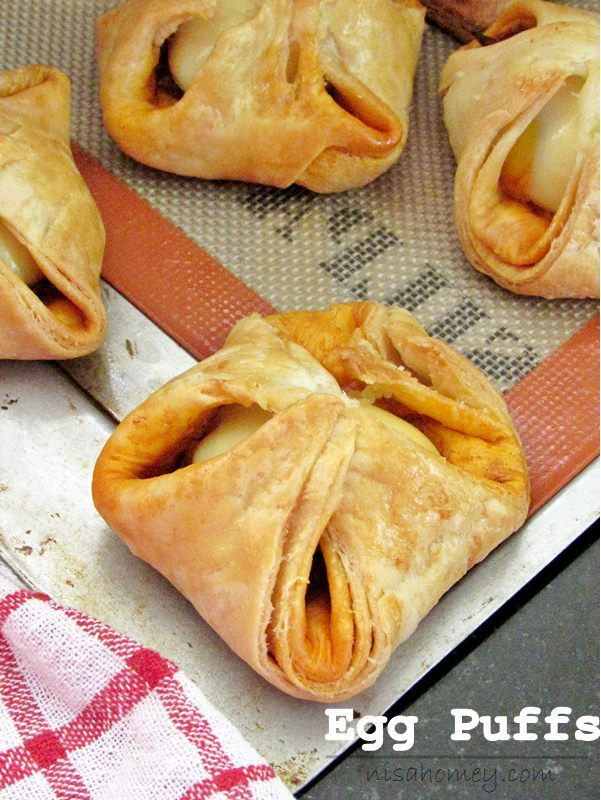 Egg Puffs Made With Easy 15 Min Homemade Puff Pastry