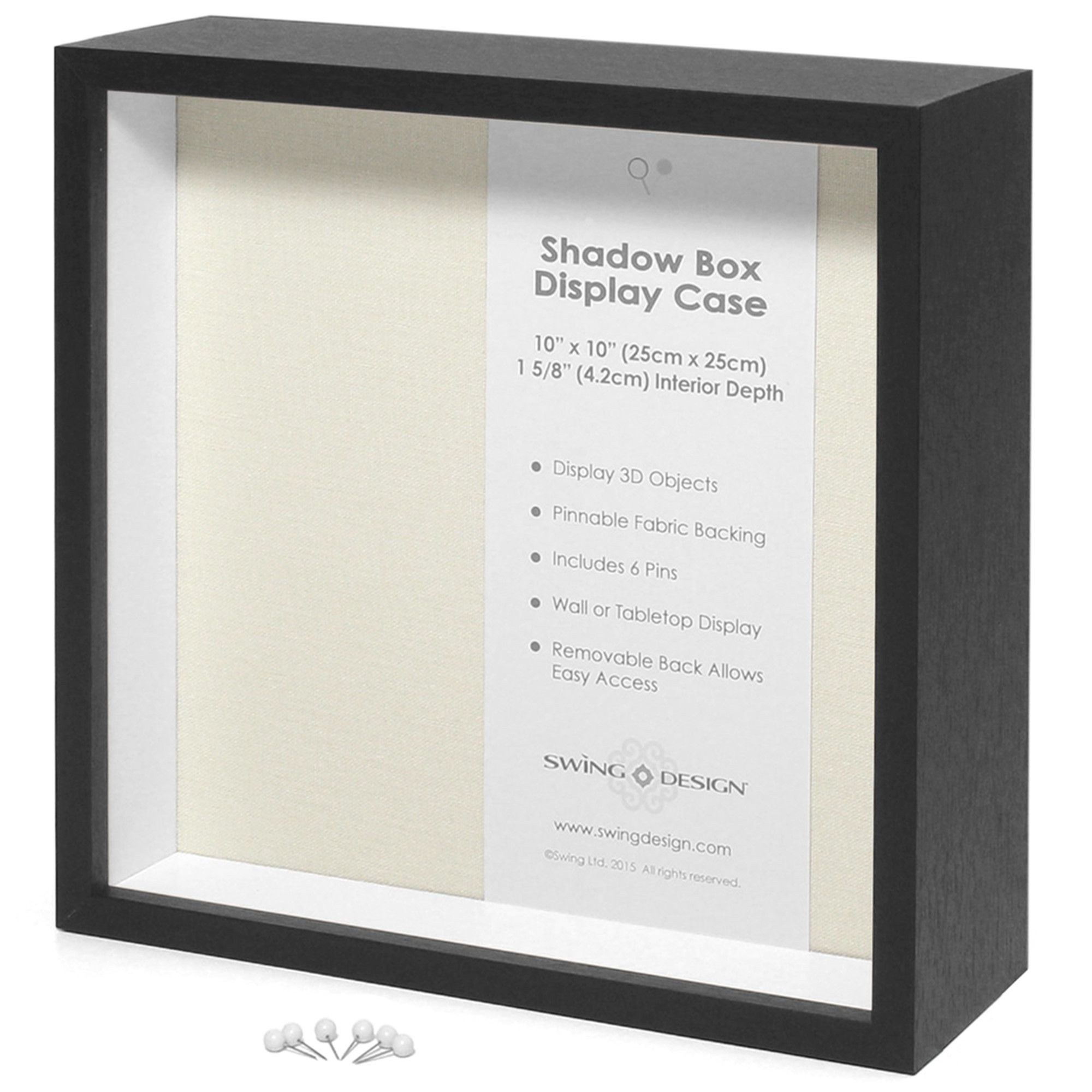 Display Shadow Box Black 10x10 Shadow Box Swing Design Shadow Box Display Case