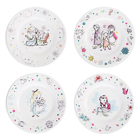 Disney Animatorsu0027 Collection Melamine Plate Set  sc 1 st  Pinterest : melamine plate set - pezcame.com