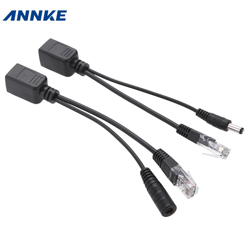 ANNKE (1pair) POE Adapter cable Connectors Passive Power cable