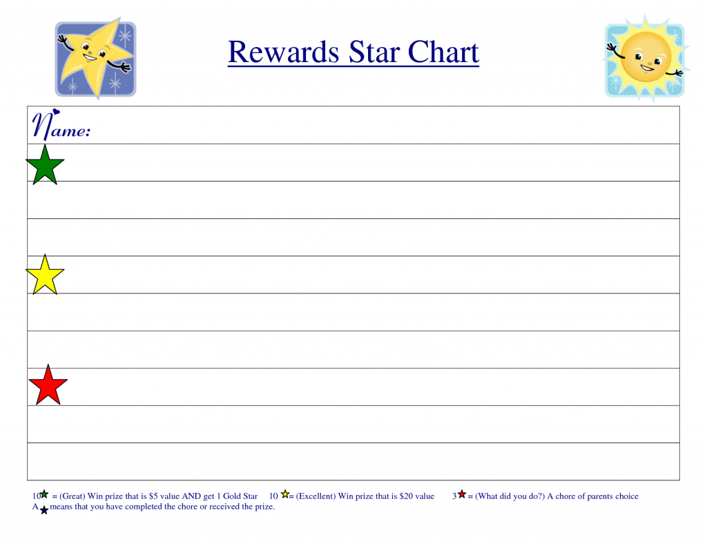 Reward Chart Template  Kiddo Shelter  Printable Reward Charts