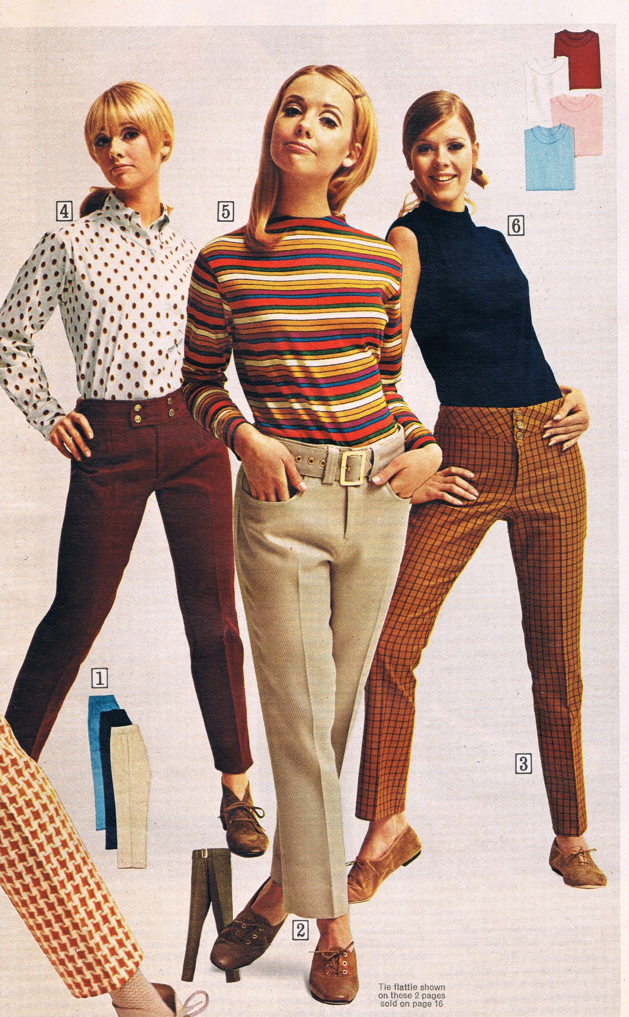 Imagen de un cátalogo de ropa de los años 60's