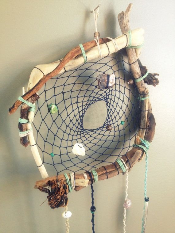 Beach Themed Driftwood DREAM CATCHER Real By LUNALUVdreamcatchers New Is Dream Catcher Real