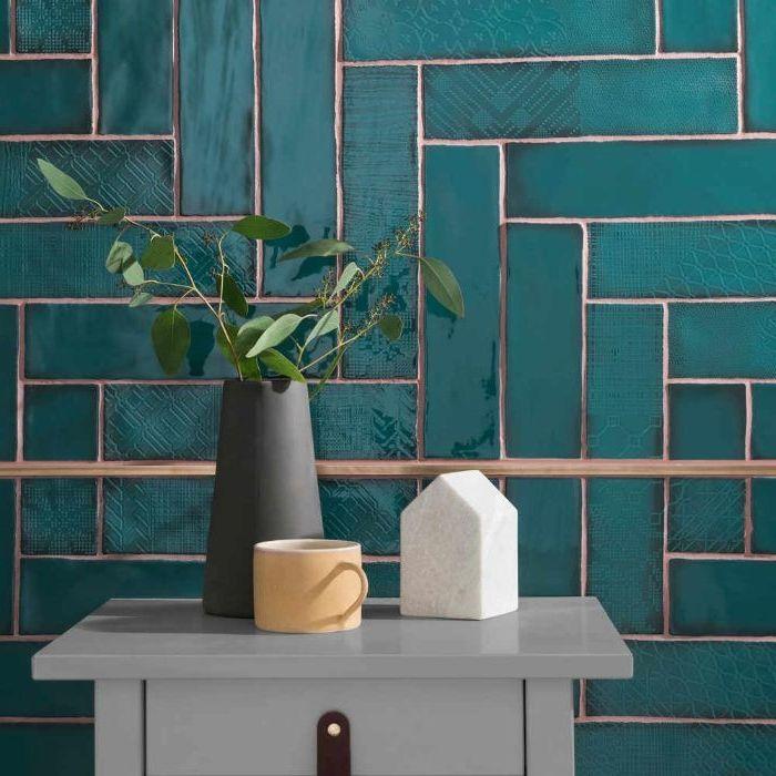 Badezimmer Graue Fliesen Und: 1001 + Ideen Für Innendesign Und Deko In Petrol Farbe