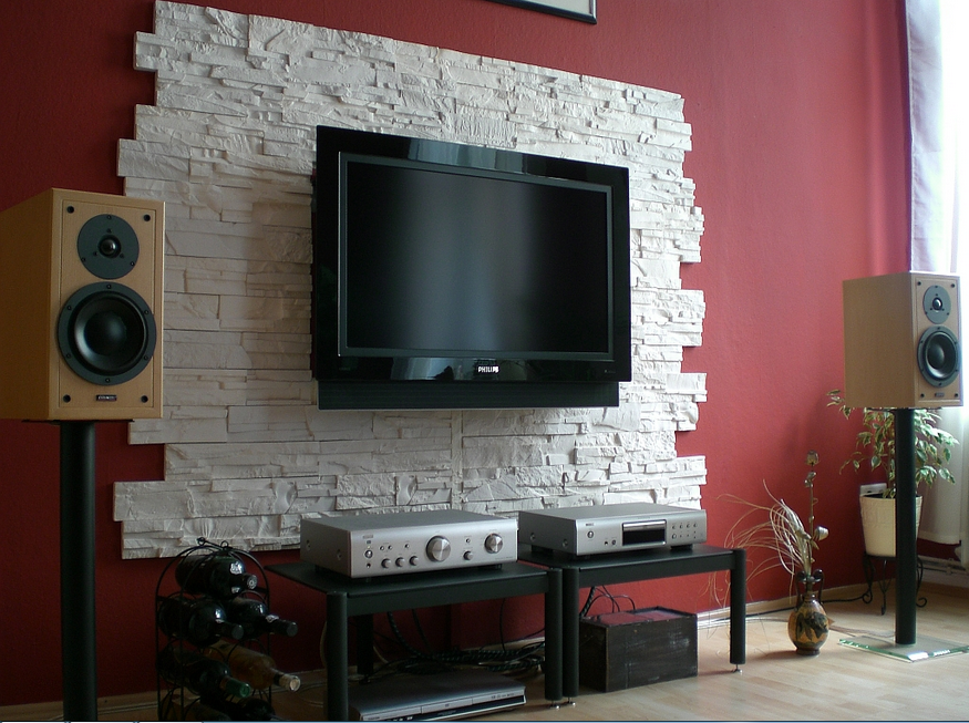 Wunderbar Steinwand Wohnzimmer Selber Machen Zimmer Mit Steinmauern Die Begrenzt