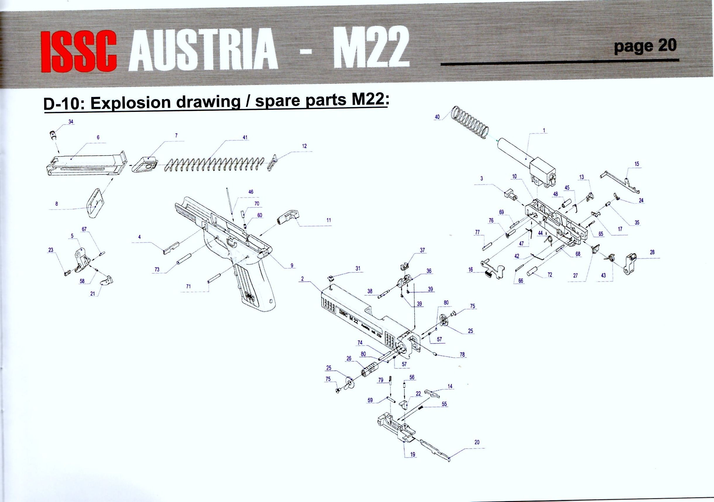 Issc M22 Parts Diagram Hand Guns Pinterest And Colt 1911 Exploded