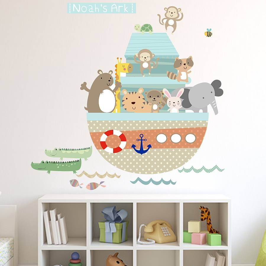 Noahs Ark Fabric Wall Stickers Ark Wall Sticker And Fabrics - Wall decals noah's ark