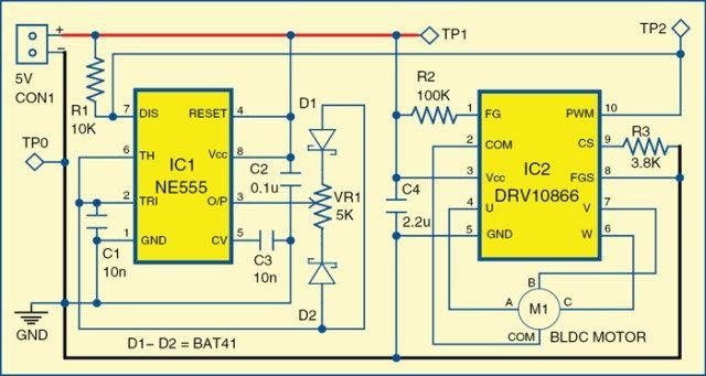 brushless dc motor driver | electronic | pinterest | electronics, Wiring diagram