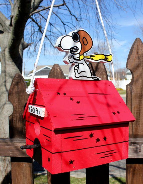 Snoopy Flying Ace birdhouse
