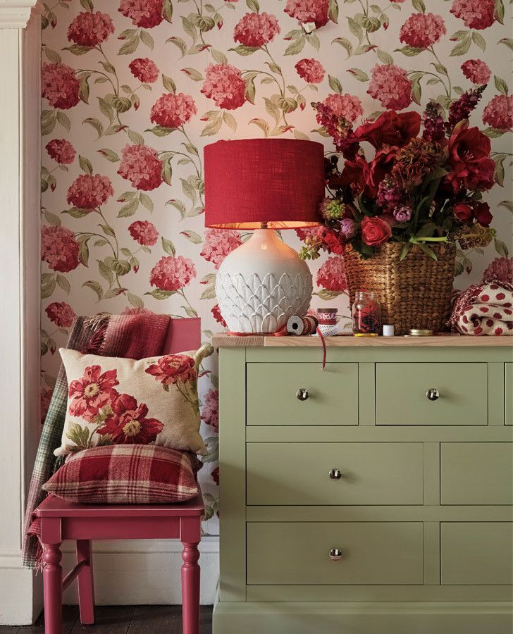Hydrangea Cranberry Wallpaper