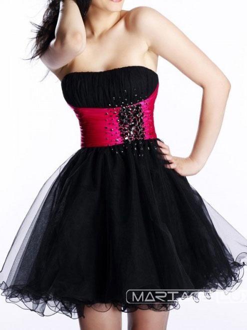 Bridesmaid Dresses Pink And Black - Ocodea.com
