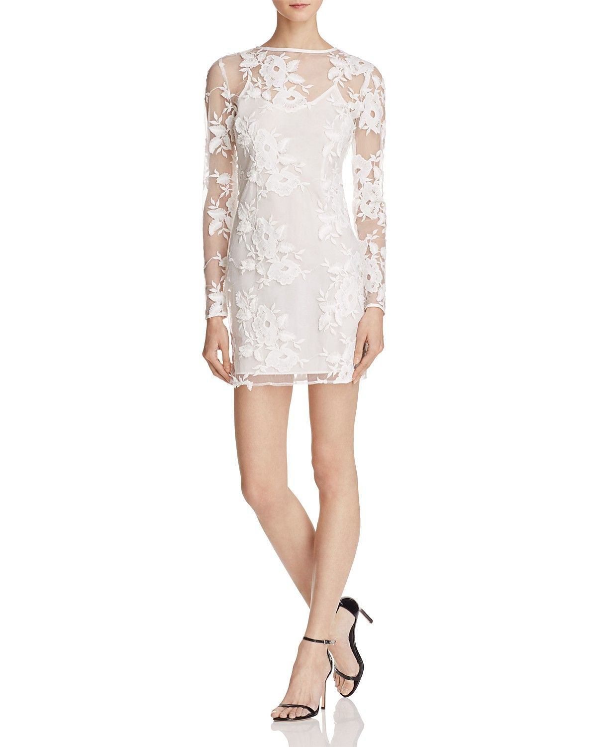 Endless Rose Embroidered Illusion Dress - 100% Exclusive
