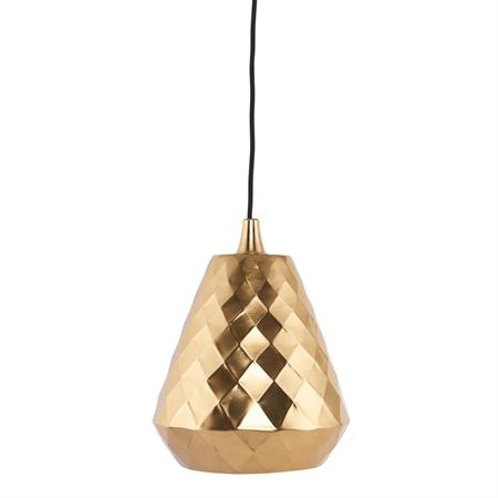 Aston lampa från House Doctor. En liten fönsterlampa som kan liknas med en ananas till utseendet. Den är tillverkad av stål med en mässingbeläggning och har ett rutformat mönster. En mycket snygg detalj i fönster eller taket.