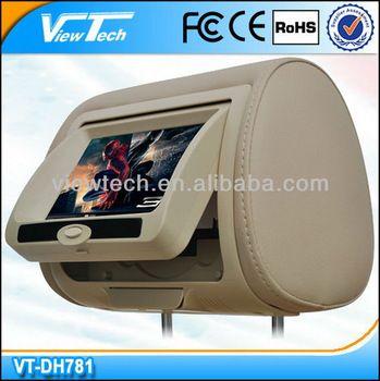 7 back seat tv for car w/DVD/Game/IR/FM/USB/SD/detachable headrest ...