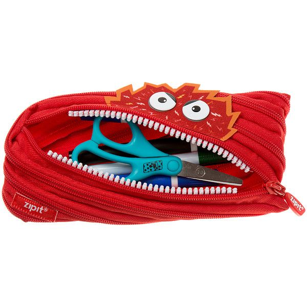 ZIPIT® Red Talking Monster Pencil Case ($6.49) ❤ liked on Polyvore featuring home, home decor and office accessories
