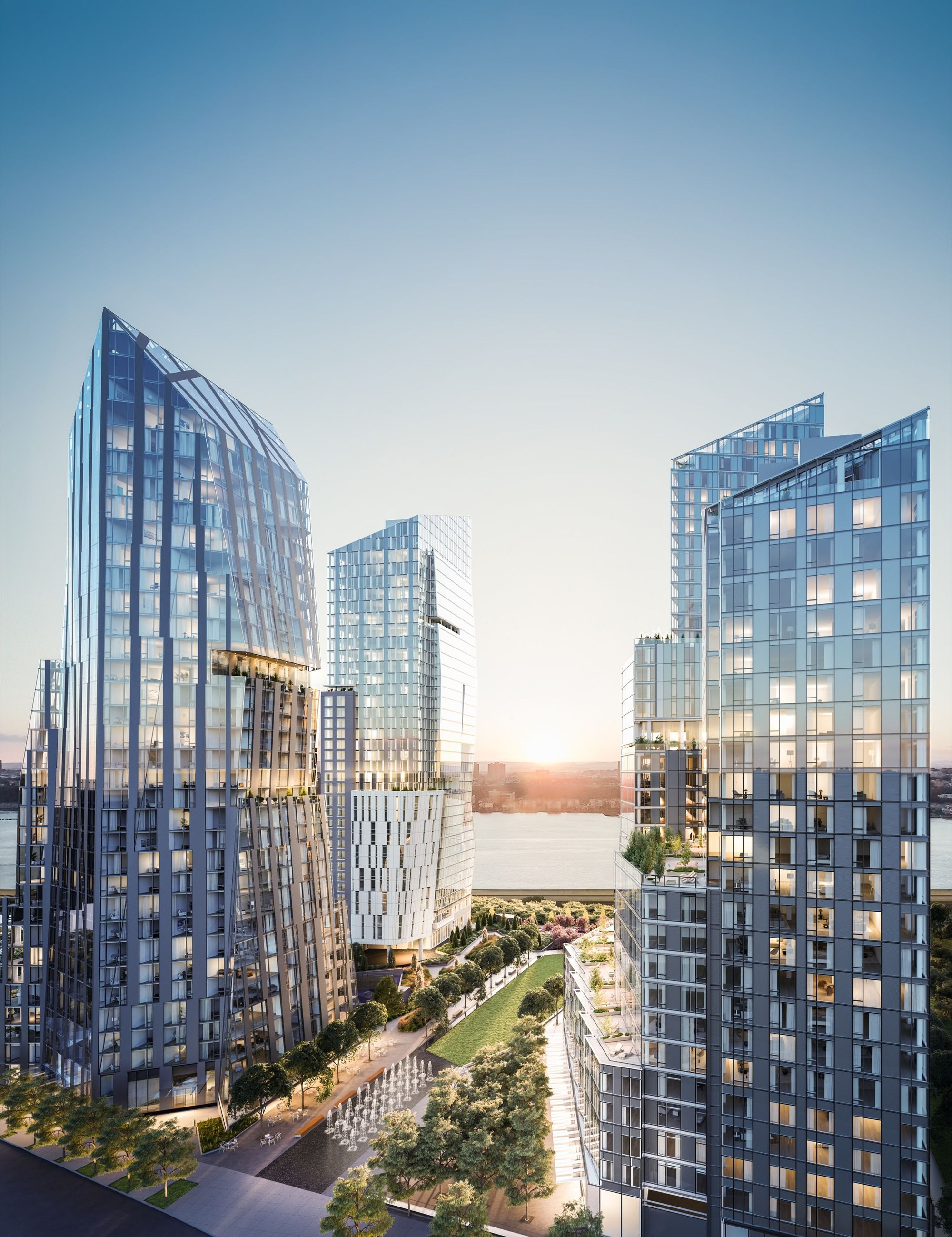 "Meier, Viñoly + KPF Design Towers for ""Waterline Square"" Development in New York"