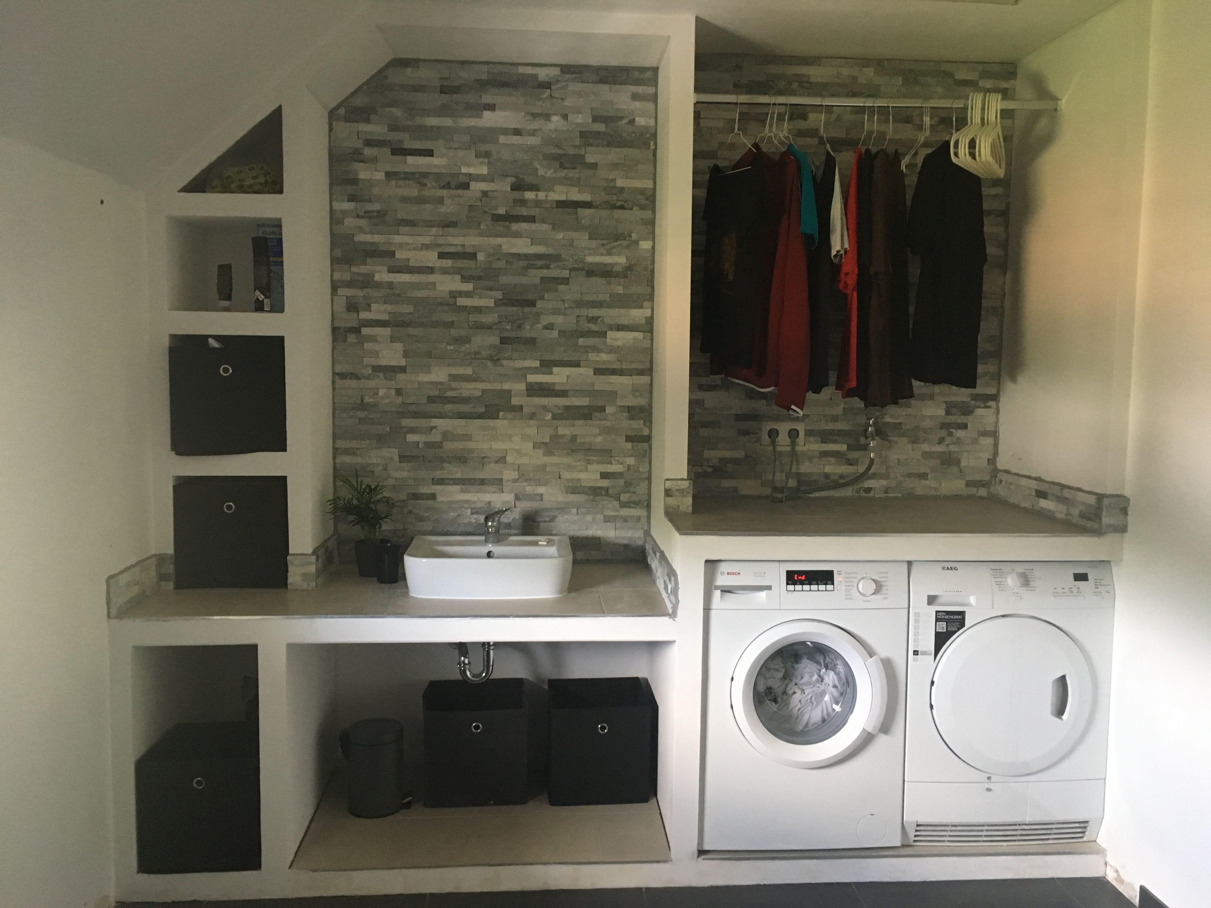 Selbstgebaute Vorwand Regal Fur Die Waschkuche Aus Viega Steptec