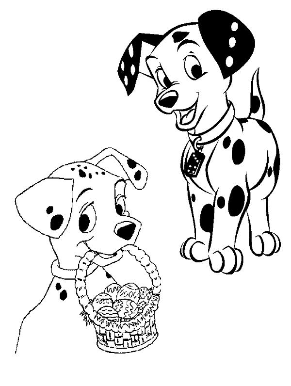 Pin Auf 101 Dalmatiner Ausmalbilder