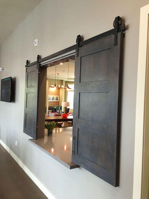 Double Barn Door Shacker Style1 Jpg 1479068408 488 650 Kitchen Barn Doors Pass Through Kitchen Kitchen Pass