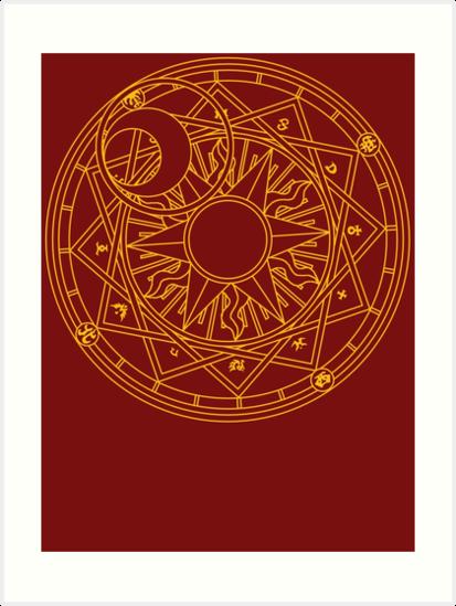 Clow Circle Art Print By Robin Hayward Circle Art Cardcaptor Sakura Sakura Card
