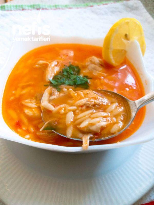 Domatesli Tavuklu Arpa Şehriye Çorbası - Nefis Yemek Tarifleri #seafooddishes