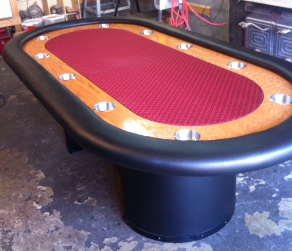 10 Player Chip Rail Arched Base Speed Cloth Custom Poker Tables Poker Table Poker Table For Sale