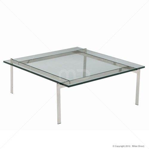 PK61 Glass Coffee Table Poul Kjaerholm Replica