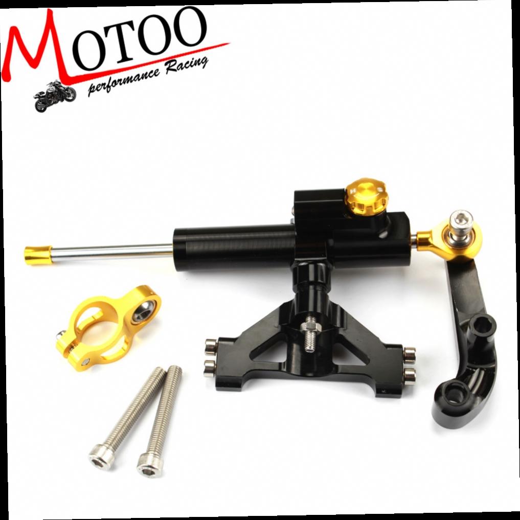 55.00$  Watch here - http://alihs6.worldwells.pw/go.php?t=32611458353 - Motoo - CNC Steering Damper Set for Kawasaki Ninja ZZR1400 ZX14 R 06-12  with bracket kits 55.00$