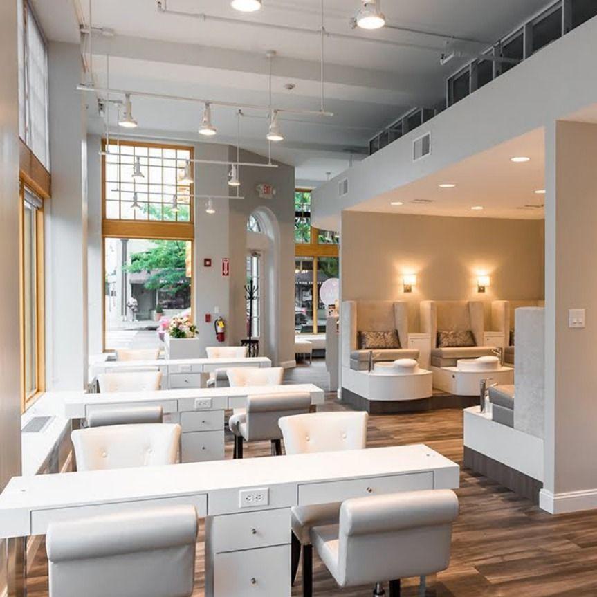 Luxury Nail Salon Interior Design + Salon Furniture | Nail ...
