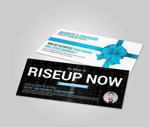 Multiuse Business Gift Card Vouchre By Business Templates