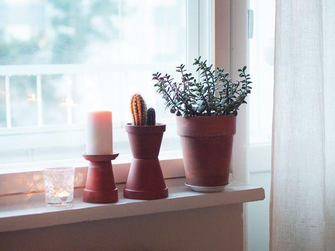 clay pots \ candles home inspiration Pinterest Interiors - pflanzen für wohnzimmer