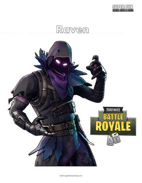 Fortnite Raven Skin Coloring Page Super Fun Coloring