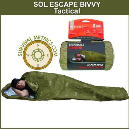 Sol Escape Bivvy Tactical Breathable Survival Sleeping Bag Olive Drab