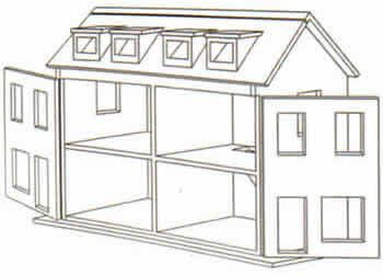 Free doll house design plans wooden doll house plan for Barbie house plans