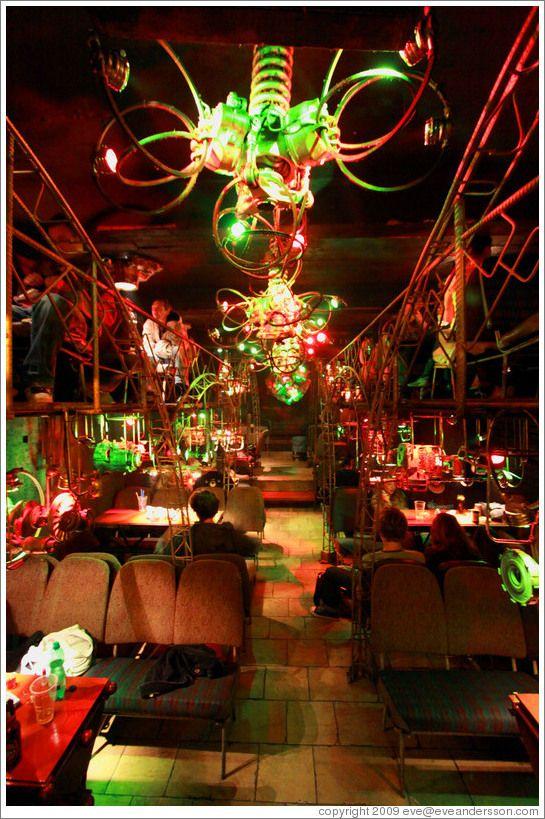 favorite bar in prague cross club made out of old bus. Black Bedroom Furniture Sets. Home Design Ideas