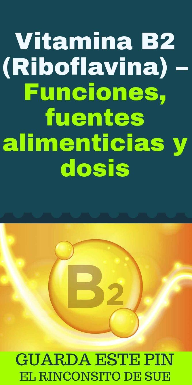 Vitamina b2 funcion y fuente