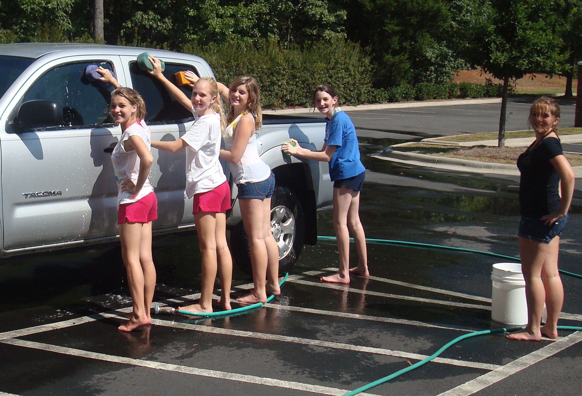 Car wash for Leukemia Girls and